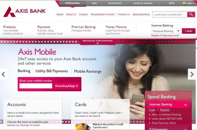 axis bank customer care toll free numbers